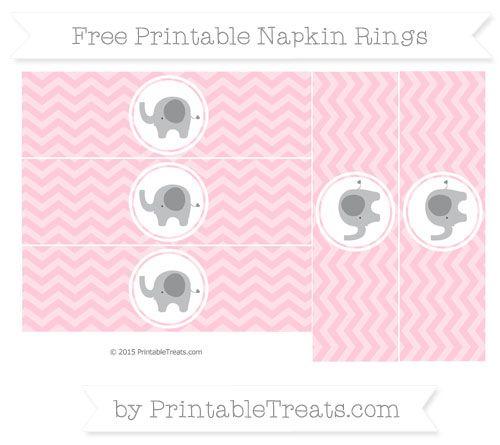 Gianna S Pink And Gray Elephant Nursery Reveal: Free Pink Chevron Elephant Napkin Rings