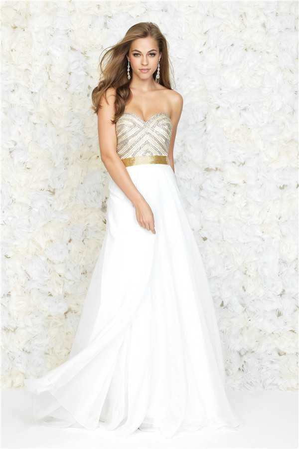 Madison James 15-140 Beaded Top Long Prom Dresses 2017