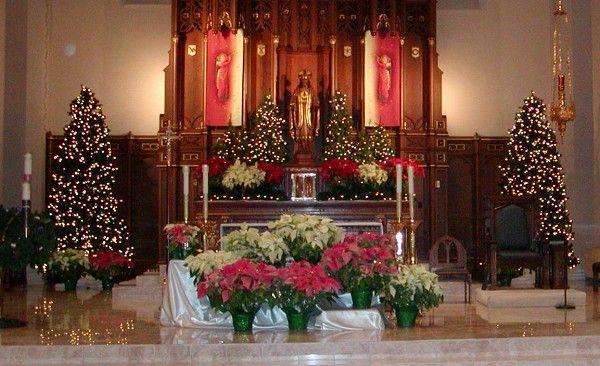 church christmas decorations | Sanctuary at Christmas ...