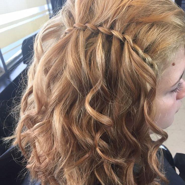 Simple prom hair �� • • • • • • • • • • #updo ##halfupdo…
