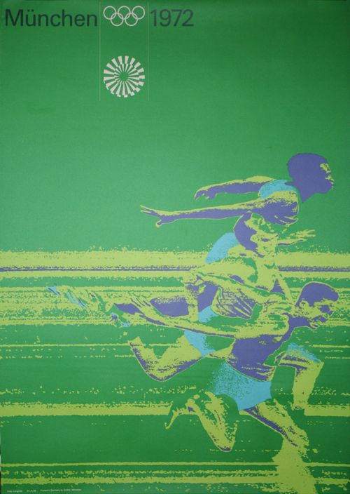 Olympic Games Munich / Running / Poster / 1972