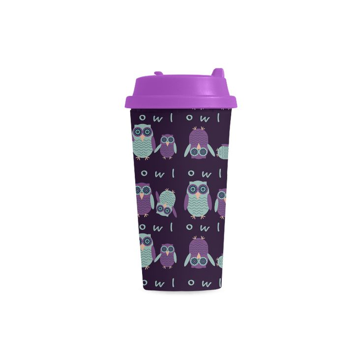 Night Owls Double Wall Plastic Mug