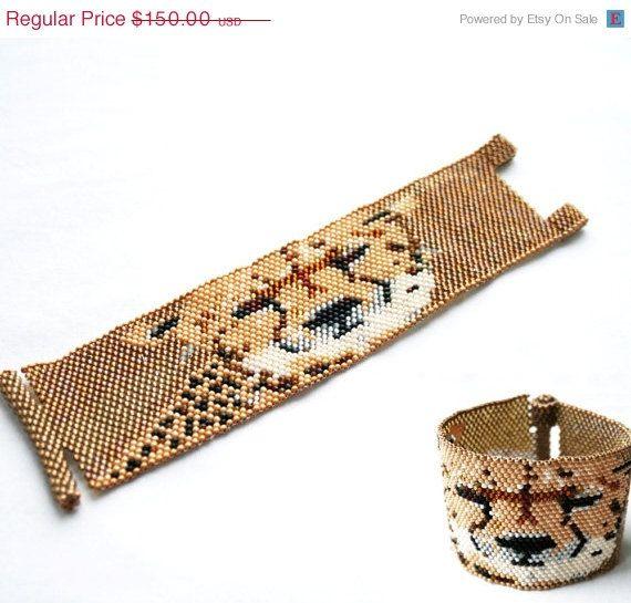 On Sale toho seed beads cuff bangle bracelet with by koralikowyraj, $112.50