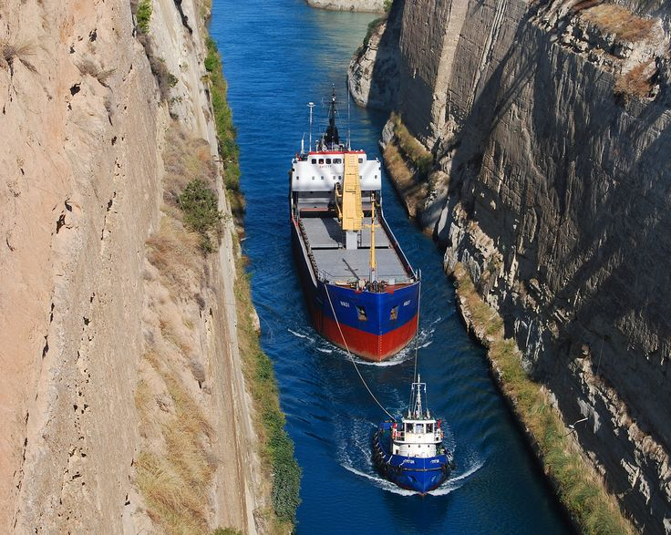 Corinth Canal picture.