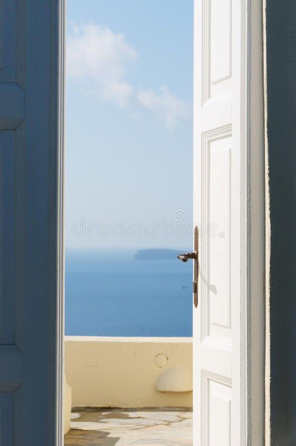 Door Open To The Sea White Wooden Door Open To The Sea Sponsored Sea Open Door Door Wooden Ad White Wooden Doors Wooden Doors Door Opener