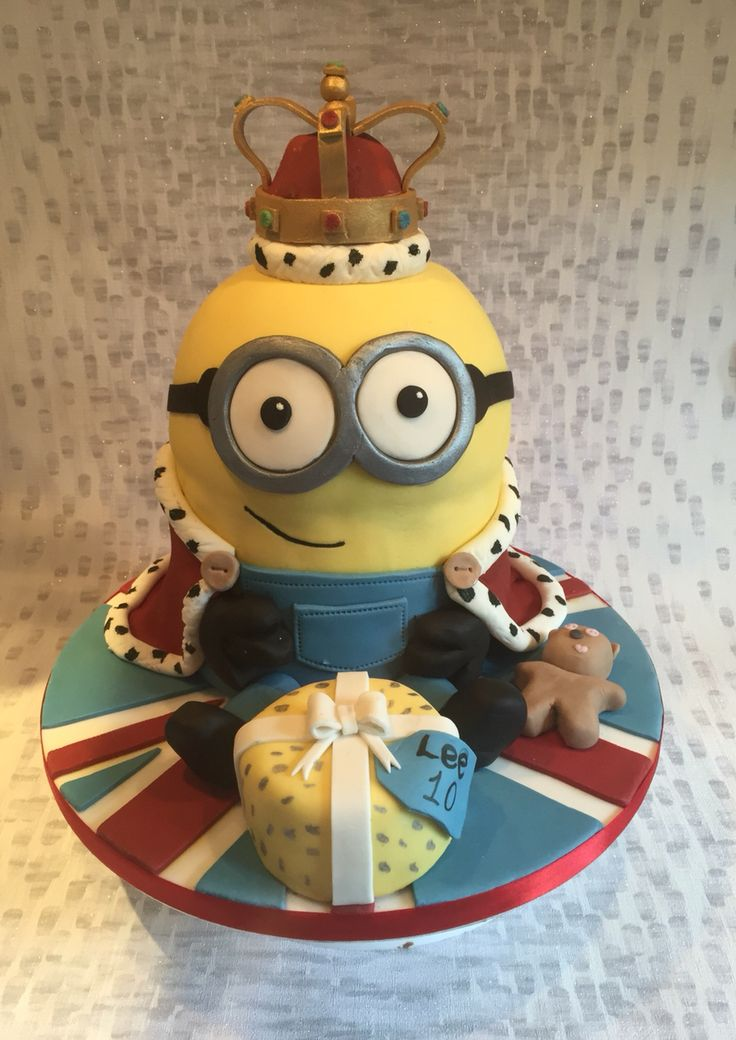 King Bob Minion Birthday Cake Based On The Recent Minions