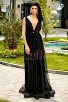 Rochie lunga din tul negru • Atmosphere