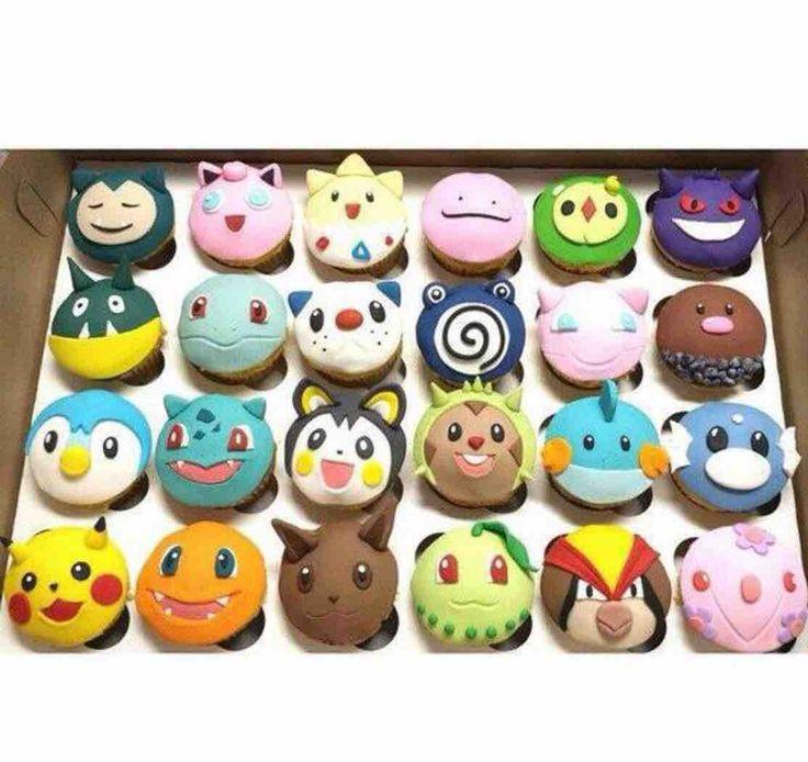 squirtleisthebest:  Pokemon Cupcakes