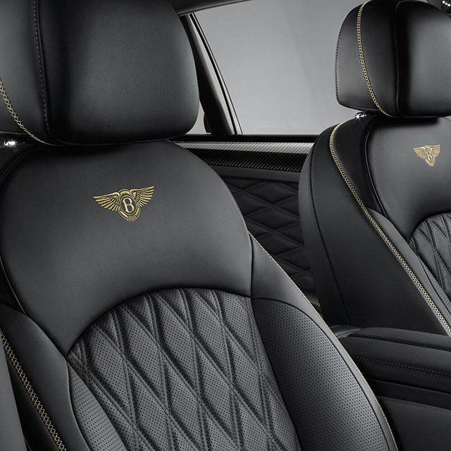 Instagram media by bentleymotors - Diamond quilting and hand-embroidered Bentley emblems can be seen across each seat of the #Mulsanne Speed.