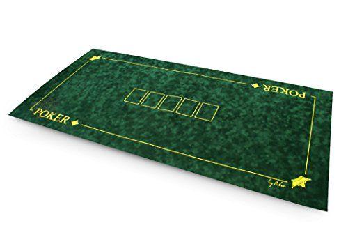 Tapis suédine Texas Poker 120×60 (vert) – SOLDES !: Tapis de poker «Texas Poker» 120x60cm en suédine bulgommée de couleur verte.…