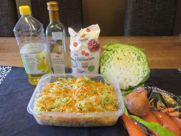 Nyttigt, råkost, råkostsallad, rawfood, rotfrukter, grönsaker, vitkål, morötter, kålrabbi, lök, hälsa, recept råkostsallad