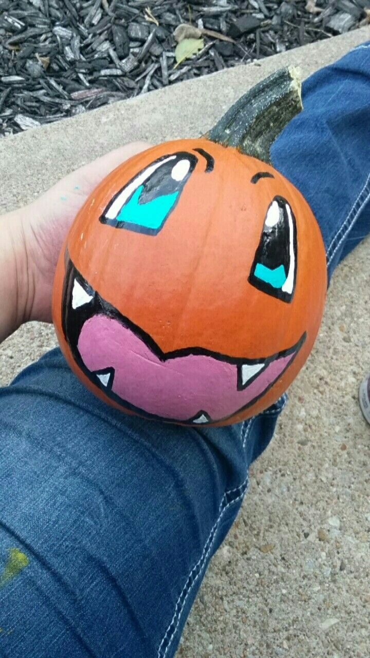 all you need is a black paint pen some blue paint white paint and a pink for the tongue i bought all the paint at menards - Menards Halloween Decorations