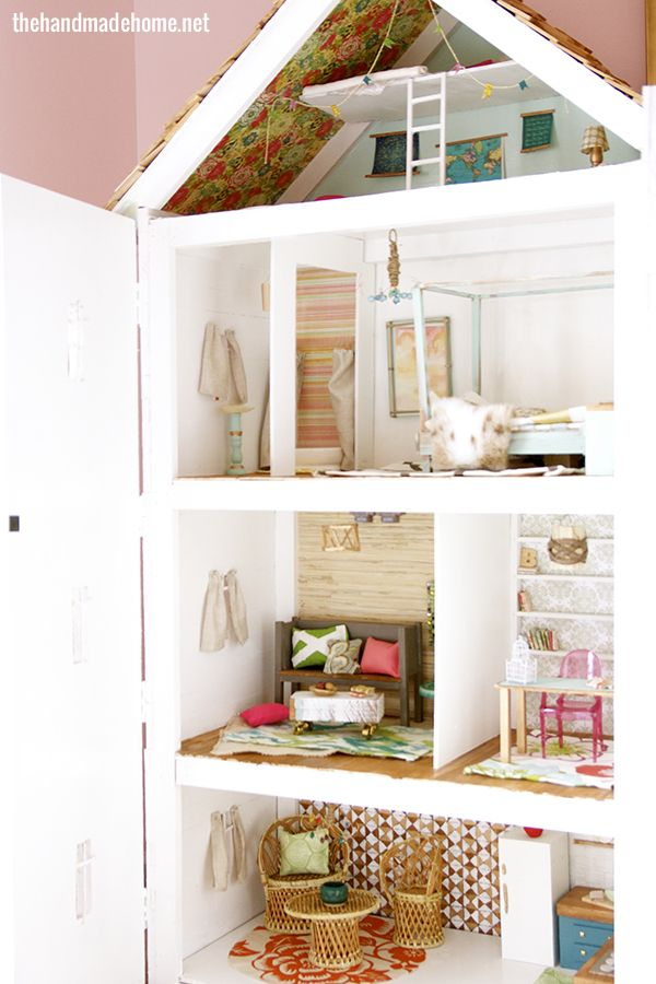 """Barbie and Ken are urban hipsters who fix up an historic Georgian townhouse. Wonderful """"Granny style""""/""""thrift store chic"""" details, especially the kitchen."""