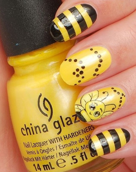 #nails #art #nailart #indie #summer #fun #hair #makeup - 49 Best Nail Art BEES Images On Pinterest Bees, Belle Nails And