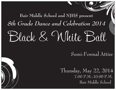 Our 8th Grade Dance Invitation Vistaprint Postcard And Matching Magnet