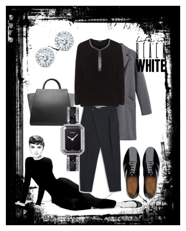 Black outfit by petra-dickova on Polyvore featuring Frapp, MANGO, FitFlop, ZAC Zac Posen, Chanel, Kobelli, women's clothing, women's fashion, women and female