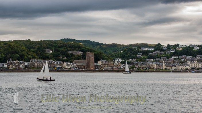 Cycling and sailing in Scotland - Oban