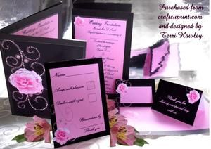 Black and Pink Wedding on Craftsuprint - View Now!