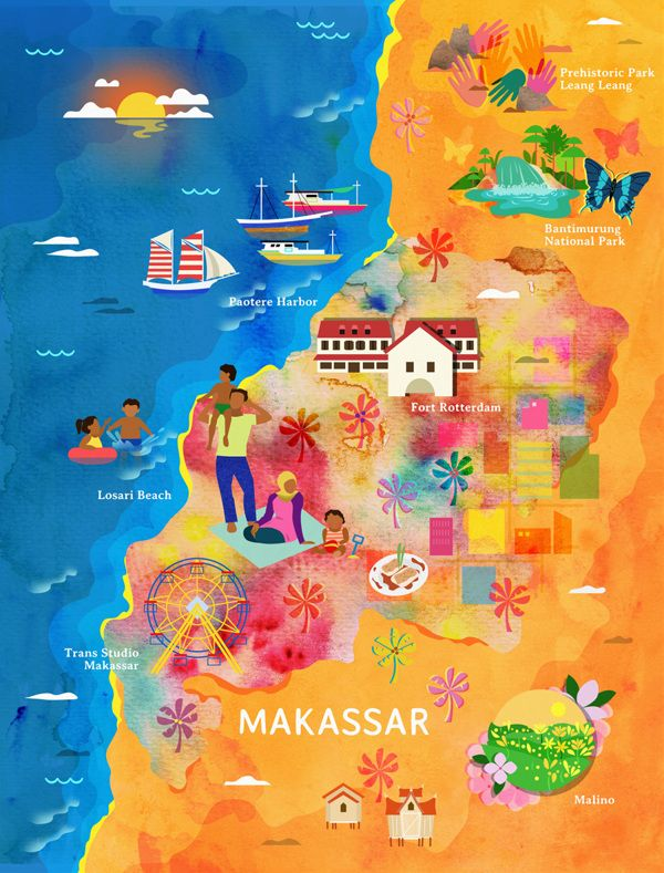 Makassar Tourist Map