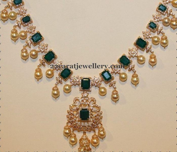 Emeralds and Diamonds Choker