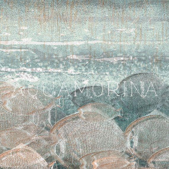 shoal 2 art printmodern graphic wall decoration by aquamorina