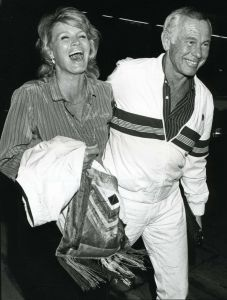 Johnny Carson and Angie Dickenson