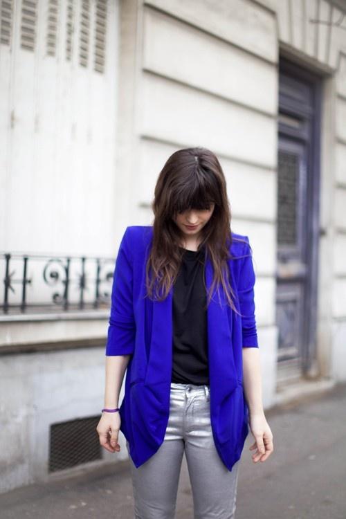 royal blue blazer. My dream.
