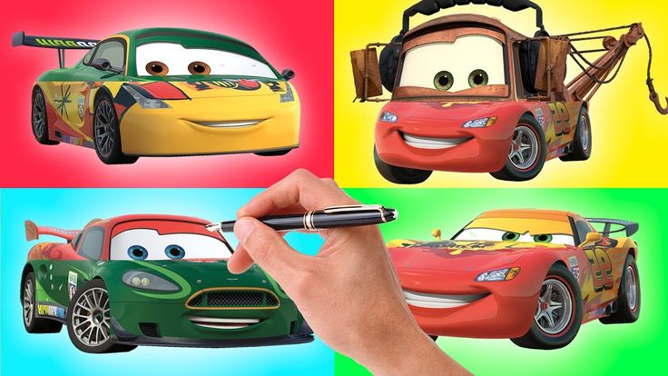 Wrong Heads Disney Cars Lightning McQueen Mater Nigel Gearsley Miguel Ca...