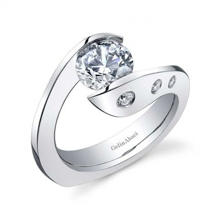 tension Band Wedding Rings For Her | Tension Collection