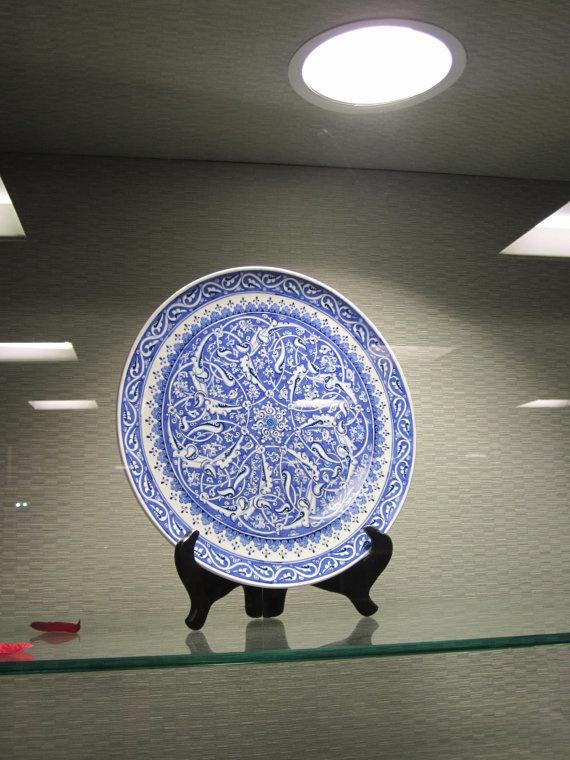 Handmade Iznik Cini Ceramic  Plate by myusatx on Etsy, $400.00