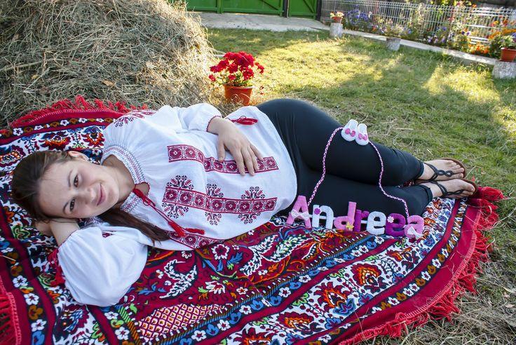 Pregnant woman in Romania