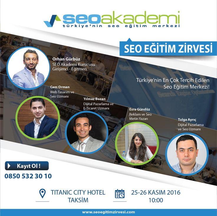 25 - 26 Kasım tarihlerinde Seo Akademi'nin düzenlemiş olduğu Seo Eğitim Zirvesi'nde Tasarım Optimizasyonu, Mobil Seo ve Sosyal Medya'da Seo Eğitimi vereceğim. Kayıt olmak için: www.seoeğitimzirvesi.com www.cemorman.com.tr