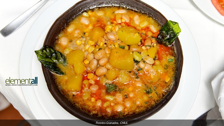porotos granados, comida típica chilena