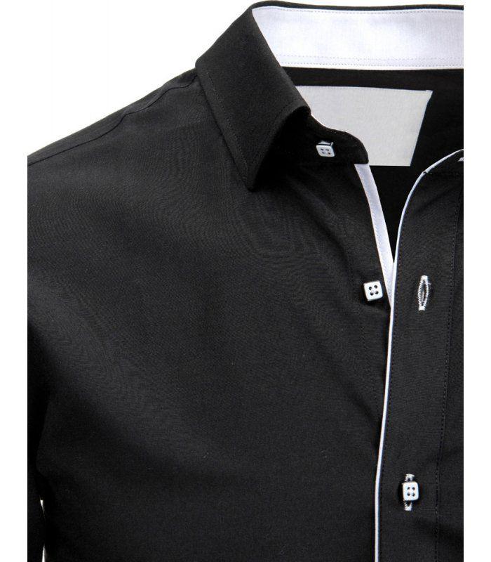 Čierna pánska elegantá košela