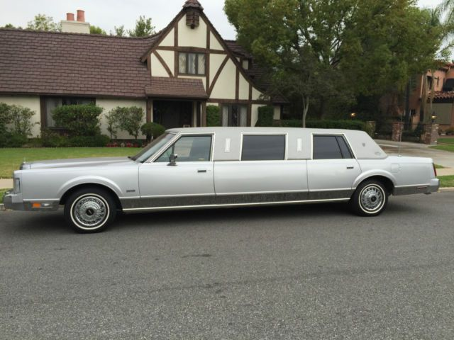 Amazing Low Low Mile 1987 St Tropaz Lincoln Town Car Limo For Sale Photos Technical Specifications Description Limo For Sale Lincoln Town Car Limo