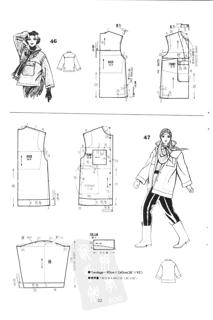 Coats, patterns instructions