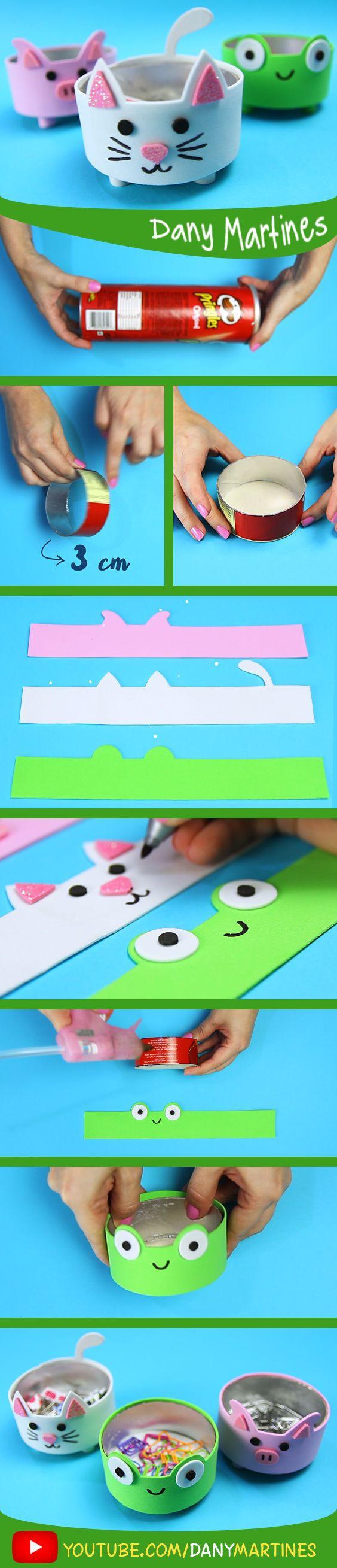 Faça você mesmo um organizador para coisas pequenas, de bichinhos kawaii, cute, super fofinhos, fofos, DIY, do it yourself, Dany Martines