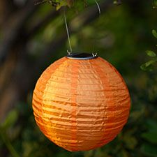 Check out the deal on 10 Inch Orange Outdoor Solar Powered Lantern at Battery Operated Candles
