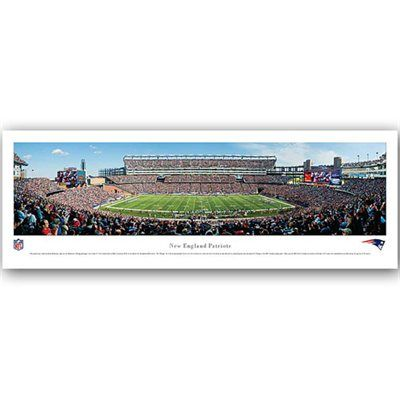 New England Patriots Stadium 13.5'' x 40'' Panoramic Print