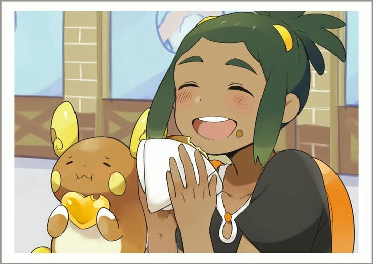 Pokemon - Hau and Alolan Raichu