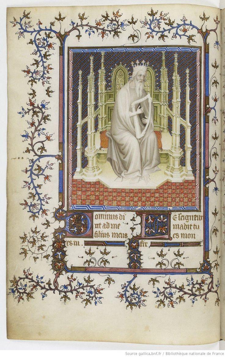 Psautier de Jean de Berry Jacquemart de Hesdin.