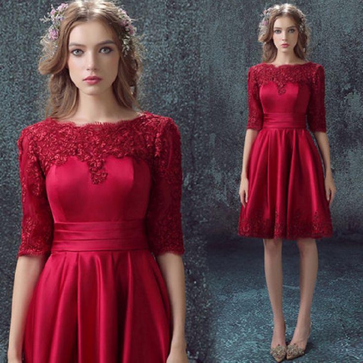 Red long-sleeved bride wedding toast wardrobe wedding dinner dress $68.23 => Save up to 60% and Free Shipping => Order Now! #fashion #woman #shop #diy www.weddress.net/...