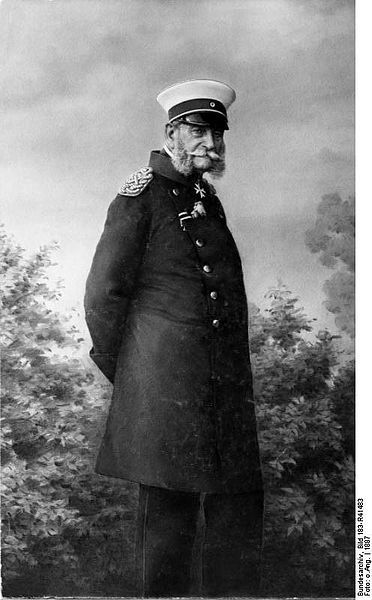 Germany. Kaiser Wilhelm I (1797-1888) was a Hohenzollern king of Prussia. During his reign Germany was unified into one nation. A younger son, Wilhelm was not expected to become king and had a career in the military. Wilhelm became king in 1861 when his older brother, King Frederick Wilhelm IV, died childless. Wilhelm's wife was Princess Augusta of Saxe-Weimar-Eisenach. They had two children.