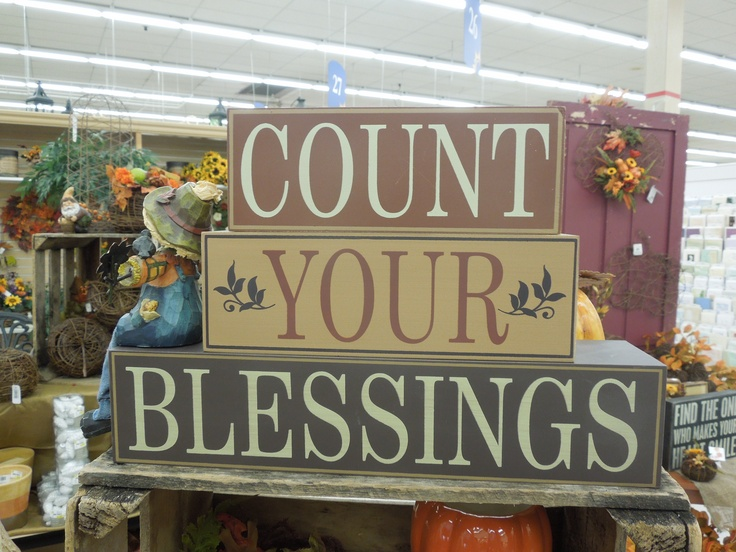 count your blessings and enjoy this fall home accent on