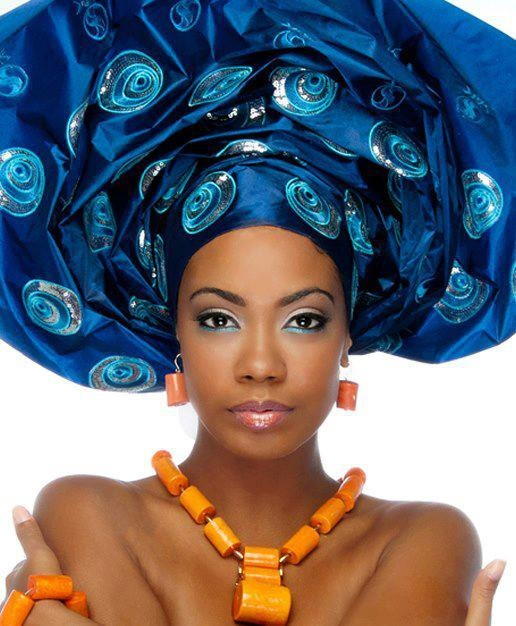 .Blue gale | West African Traditional Headdress. | Pinterest Traditional African Fashion Headdress