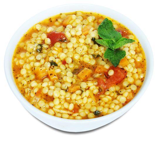 Томатный суп с кускусом Птитим