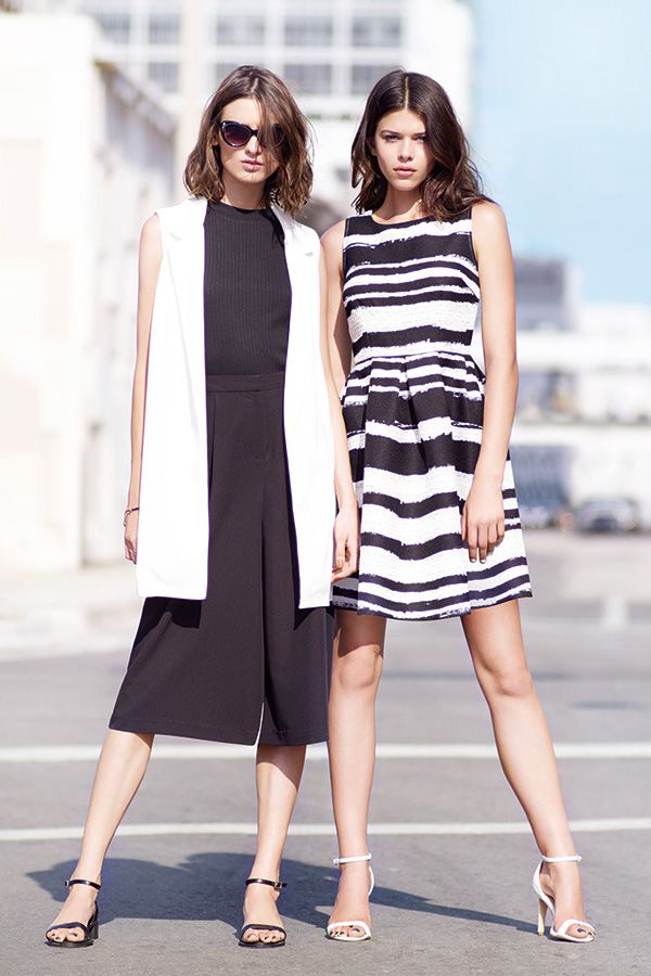 Monochrome is always a stylish look for the office. Go for block black and white or stripes. #newlook #fashion