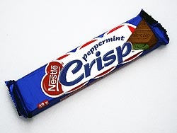 Peppermint Crisp! My favourite chocolate of all time!! Note the South African spelling.