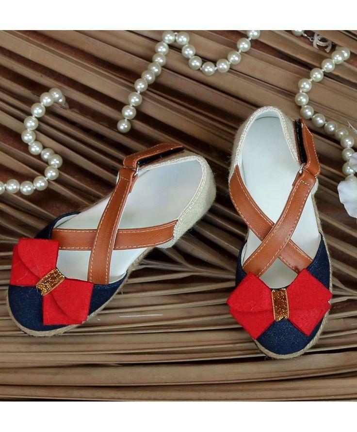 Multicolor High Fashion Cross Design Denim Shoes With Bow  #Shoes #Multicolor #Denim