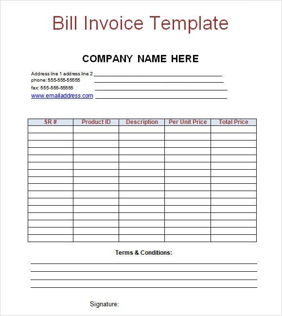 Billing Invoice Templates 18 Free Printable Xlsx Docs Format Invoice Template Word Invoice Template Invoice Sample